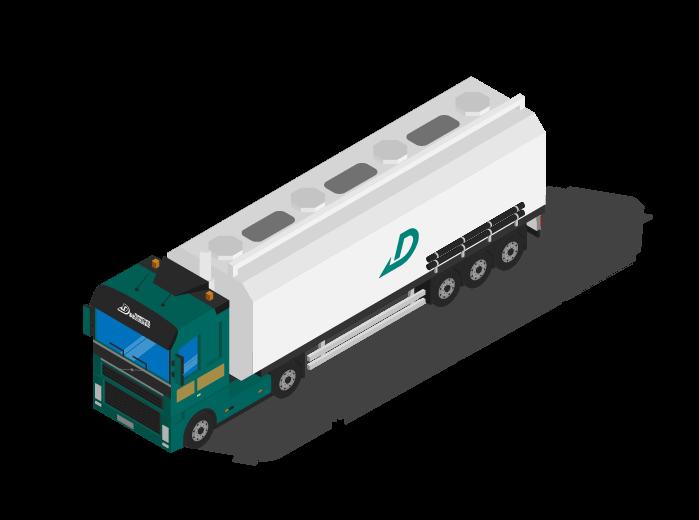 Transport citerne pulvérulente